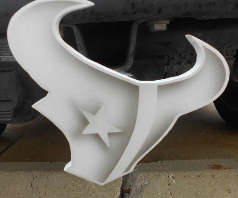 texans trailer hitch white by Task002