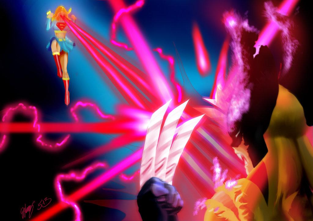 Wolverine v Supergirl by Task002