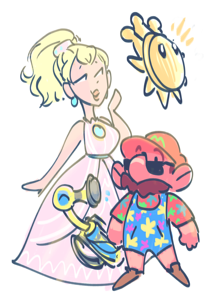 I love Super Mario Sunshine by Teal666