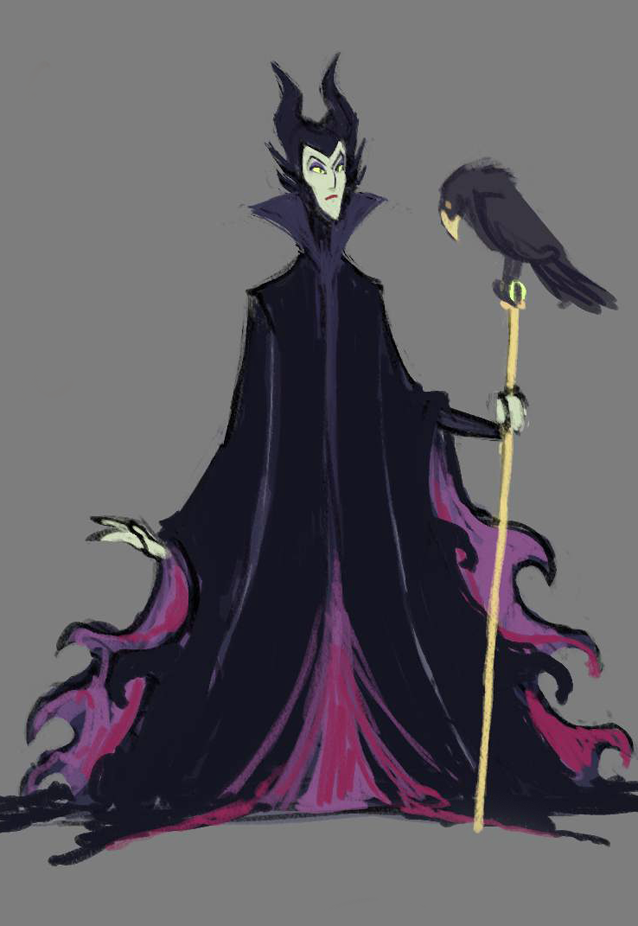maleficent scribble by Teal666