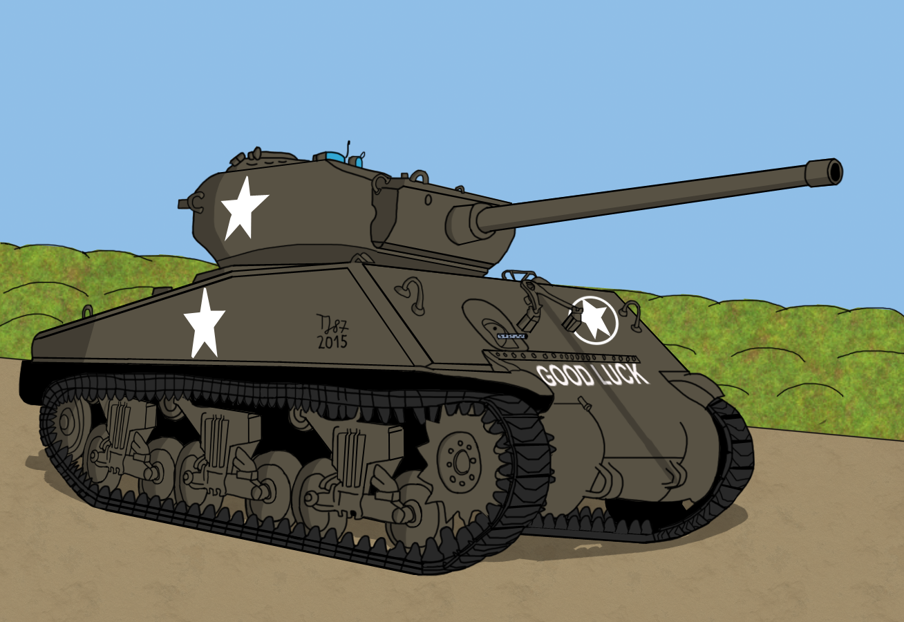 M4A3E2 Sherman with 76mm gun by TeeJay87