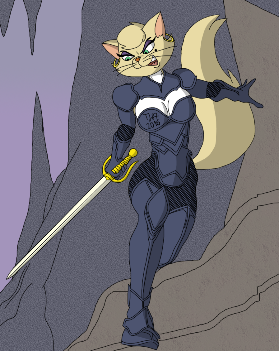 Feline Warrior Delilah by TeeJay87