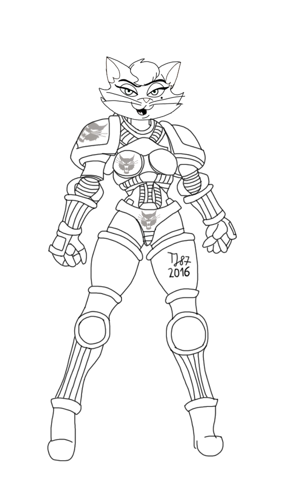Space Marine Delilah raw sketch by TeeJay87