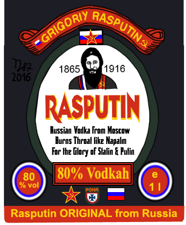 Rasputin Vodka Label by TeeJay87