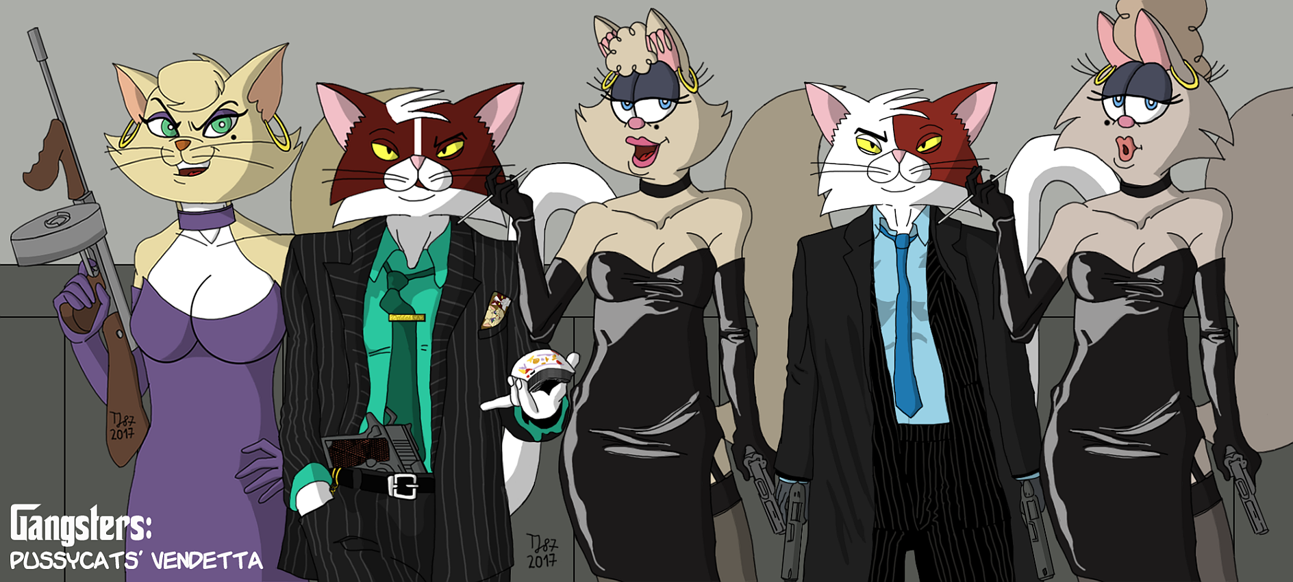 The Pussycats' Vendetta: Family Picture (color) by TeeJay87