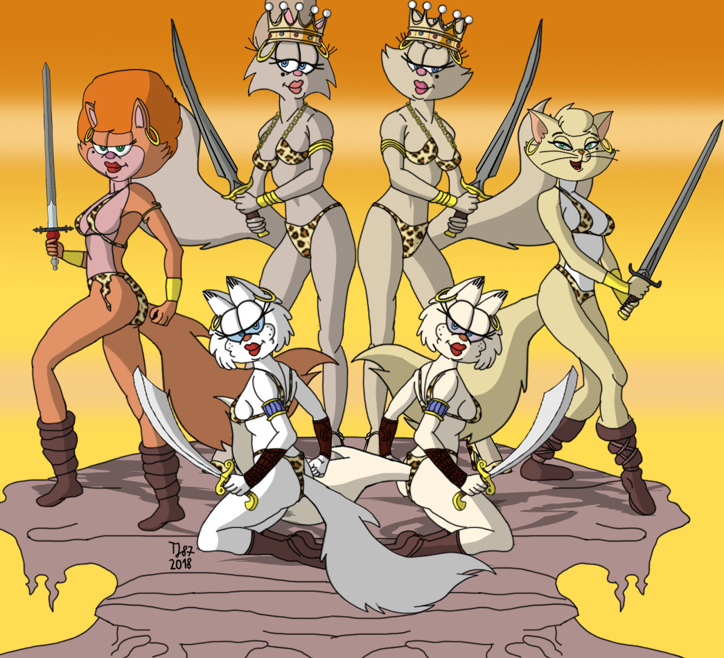 The Feline Amazons by TeeJay87