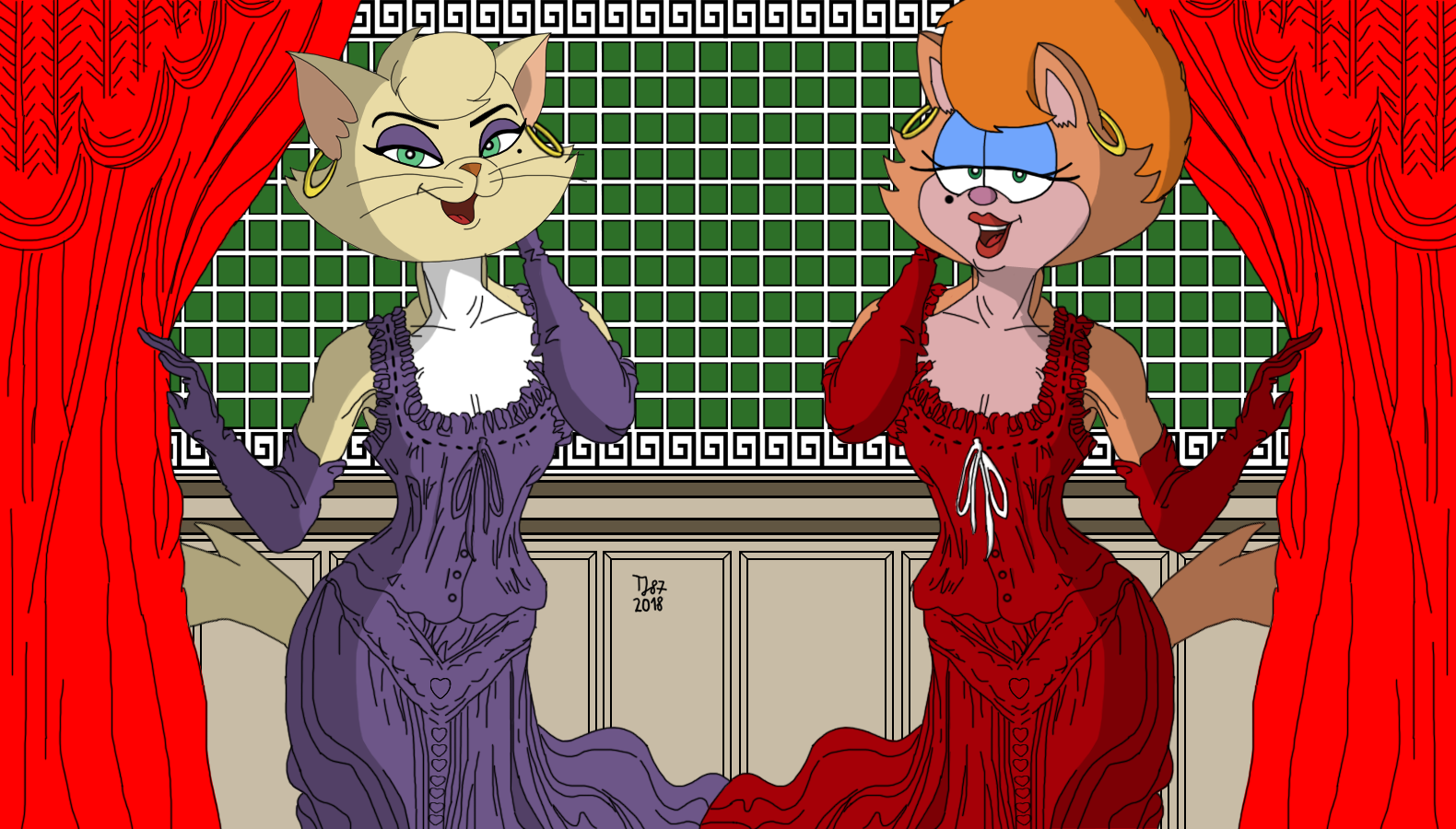 Victorian Fashion: Delilah and Kitty by TeeJay87