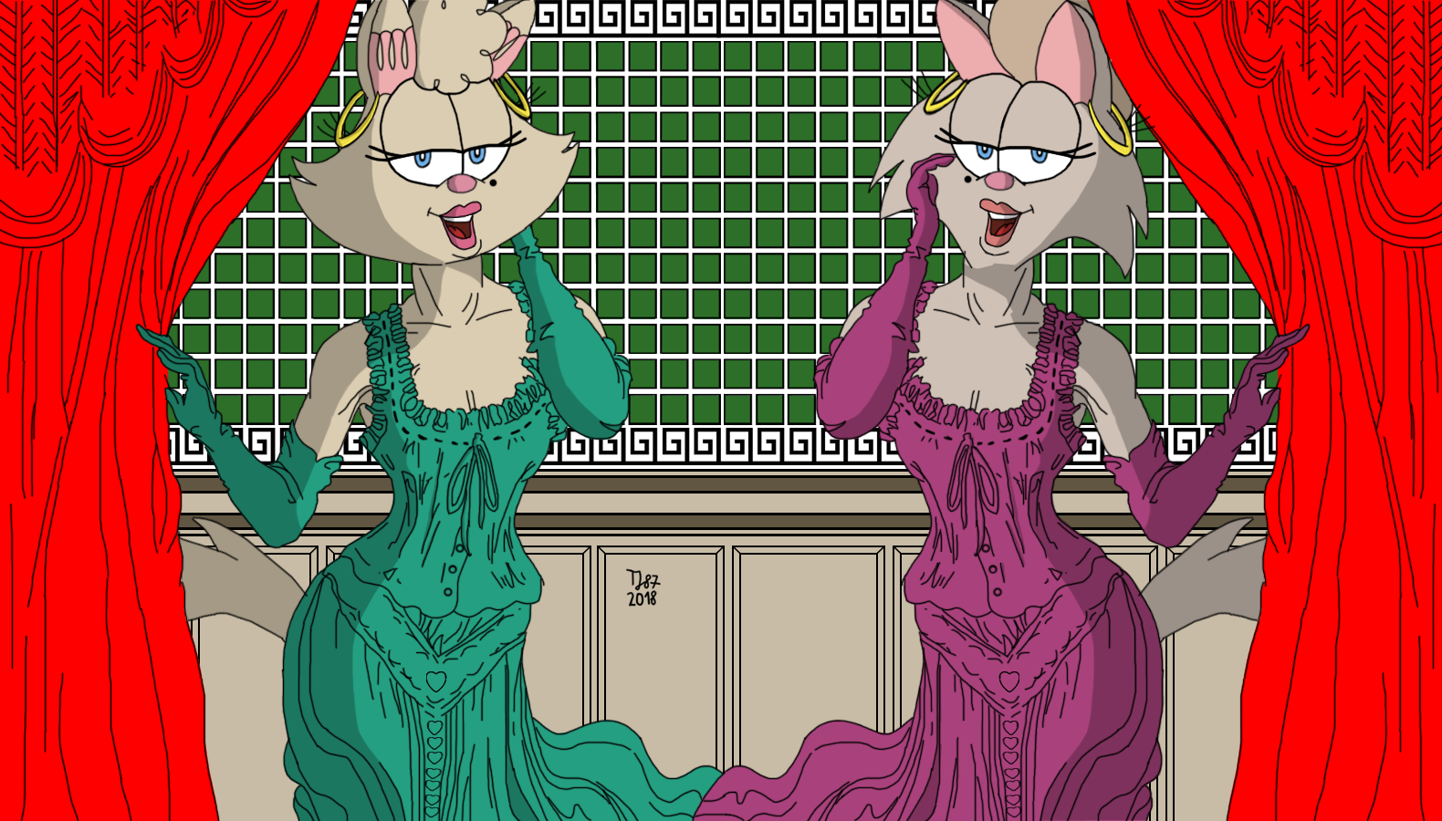 Victorian Fashion: Penelope and Mona by TeeJay87