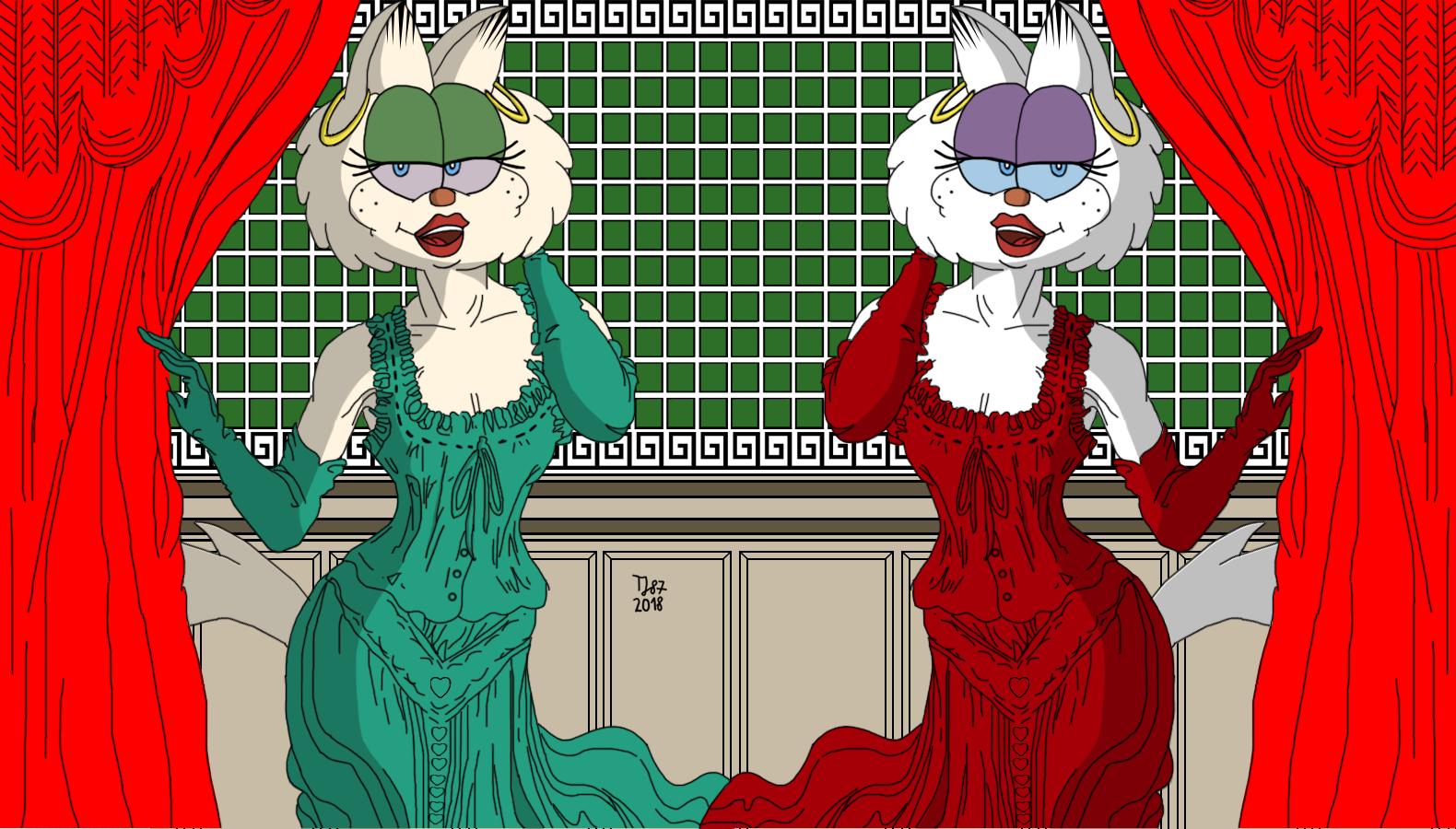 Victoria Fashion: Gwendolyn and Lola by TeeJay87