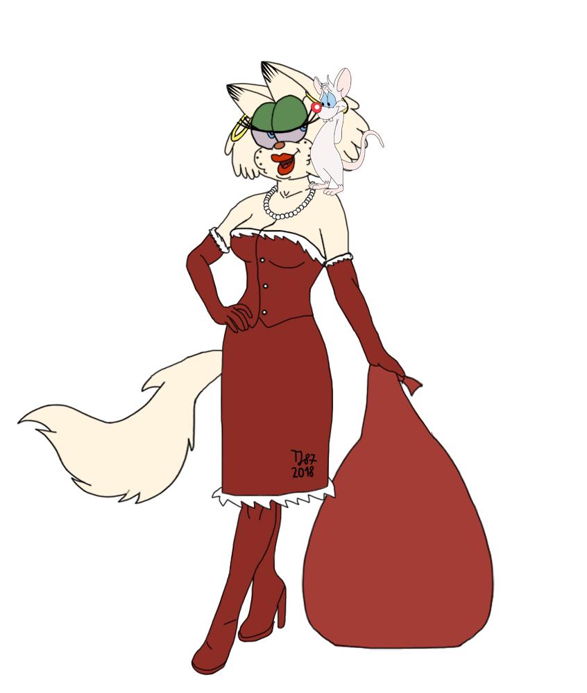 Santa Gwen and Pinky (WIP) by TeeJay87