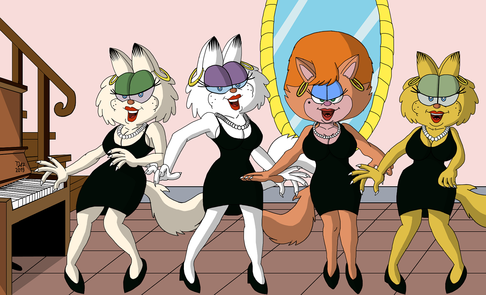 The Four Purrsians by TeeJay87
