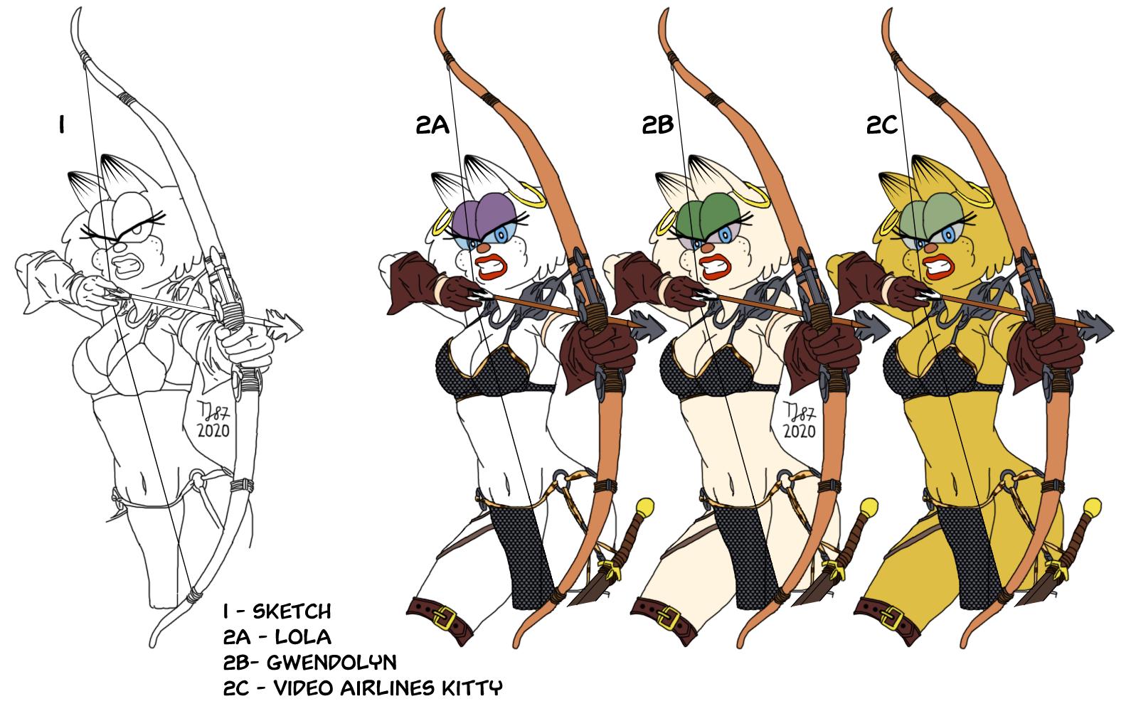 The Purr-sian Archery by TeeJay87