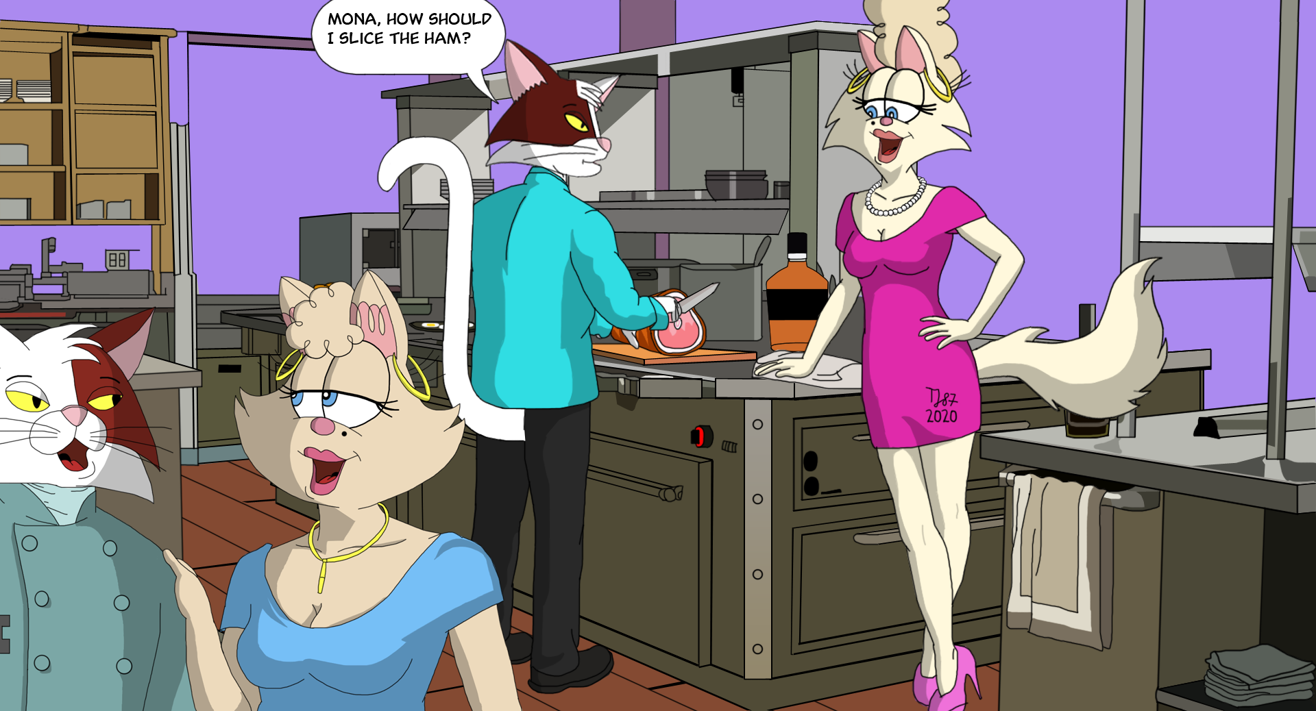 Team Pussycat at the Kitchen by TeeJay87