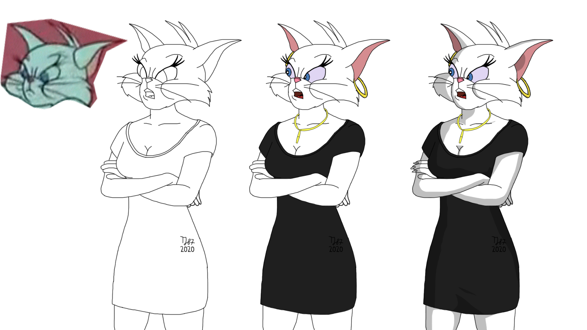 1967 Toodles - from sketch to colours (WIP) by TeeJay87