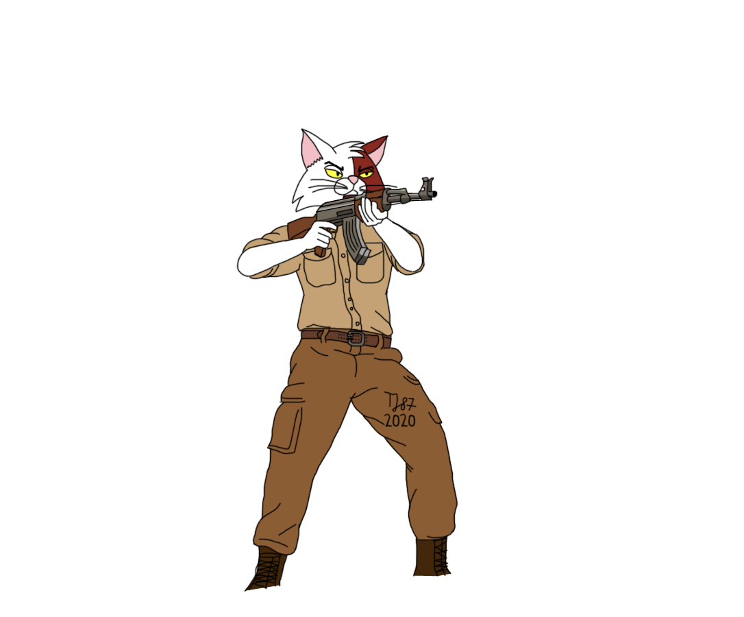 Stan with AK47 2020 in the desert (WIP) by TeeJay87