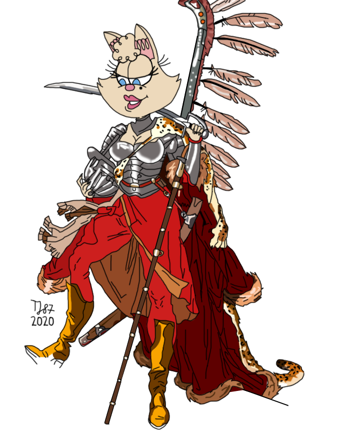 Winged Hussar Penelope (colour test) by TeeJay87