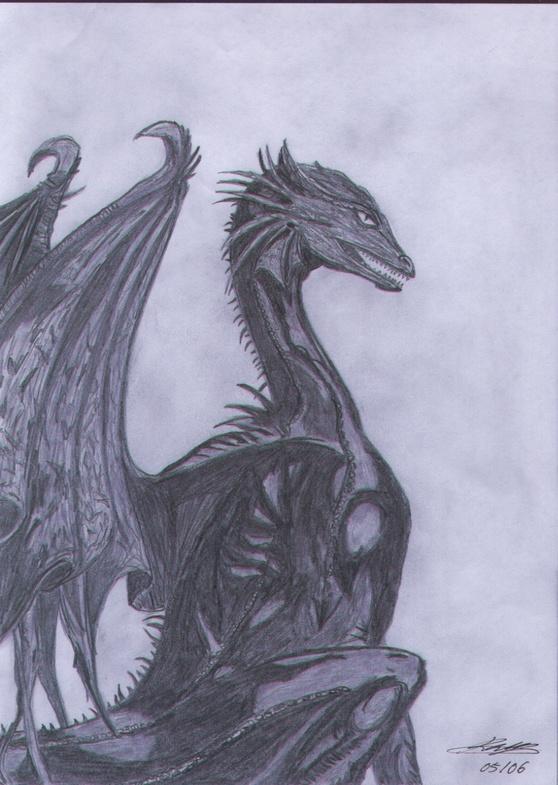Dragon (For Dark_Dragon_Dreamer)  :) finished ^o^ by Teemu