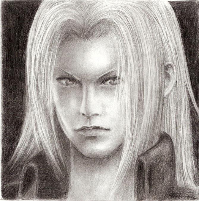Sephiroth Portrait by TeenAvaGo_1