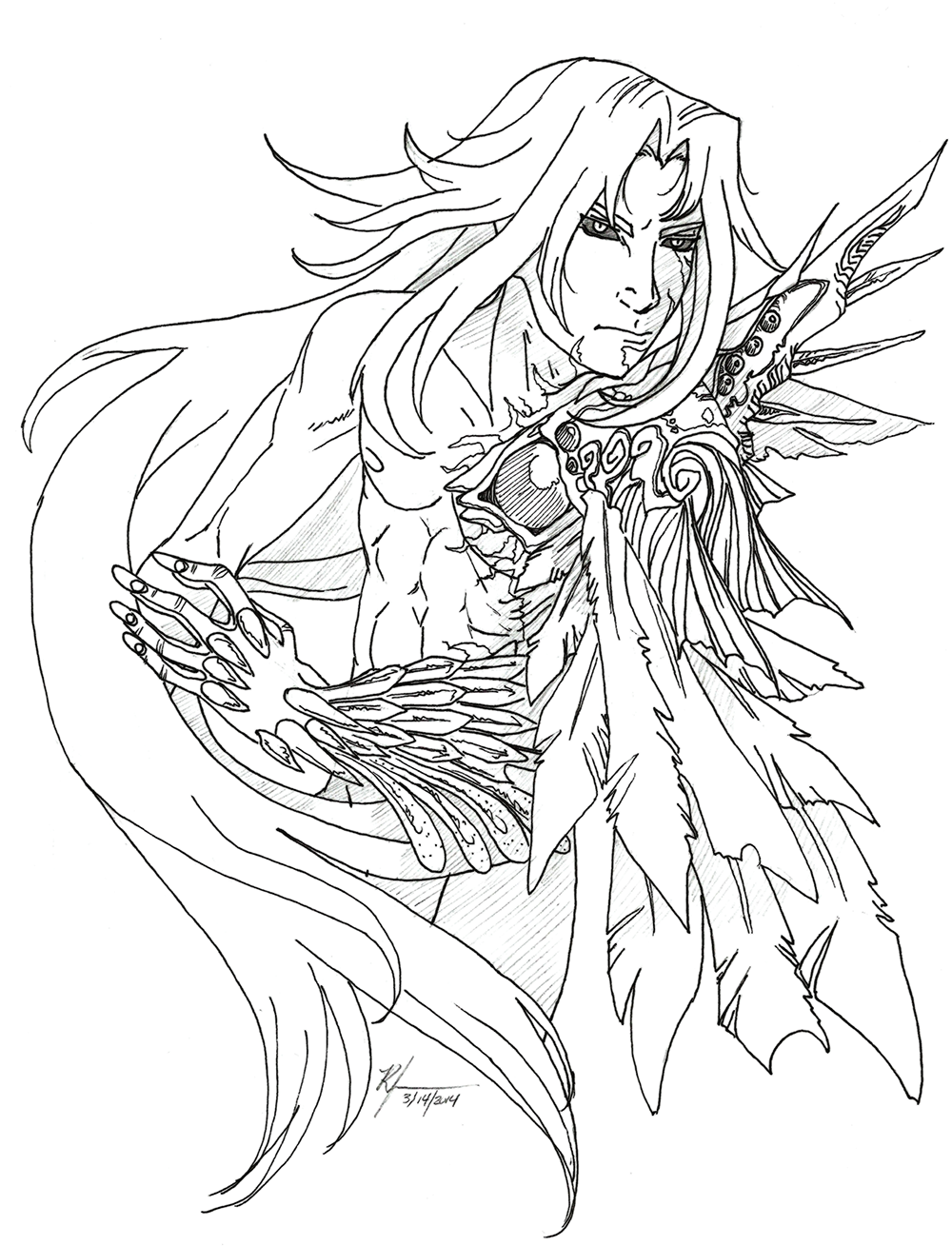 monster sephiroth by TenthDivine