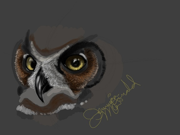 Great Horned Owl by Teule