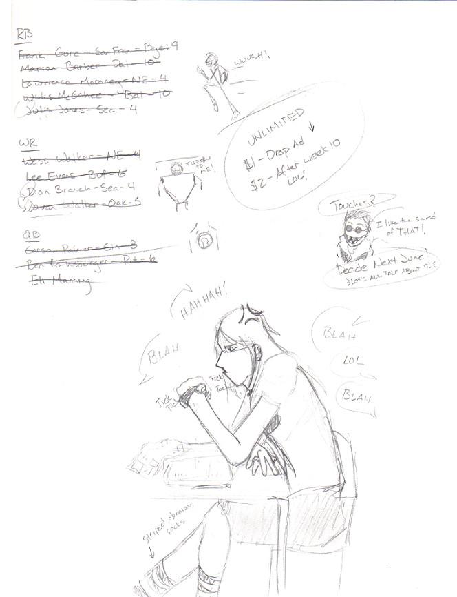 Sketchbook pg - Fantasy Footbaw CRAP. by TheDrkAlchmst