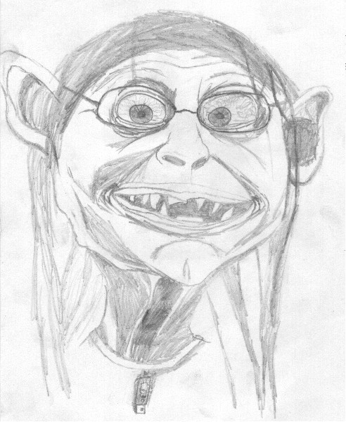 Gollum Goes to School by TheFrog114