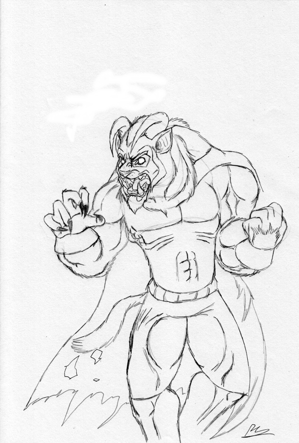 The Beast, My Version (no color) by TheGameArtCritic
