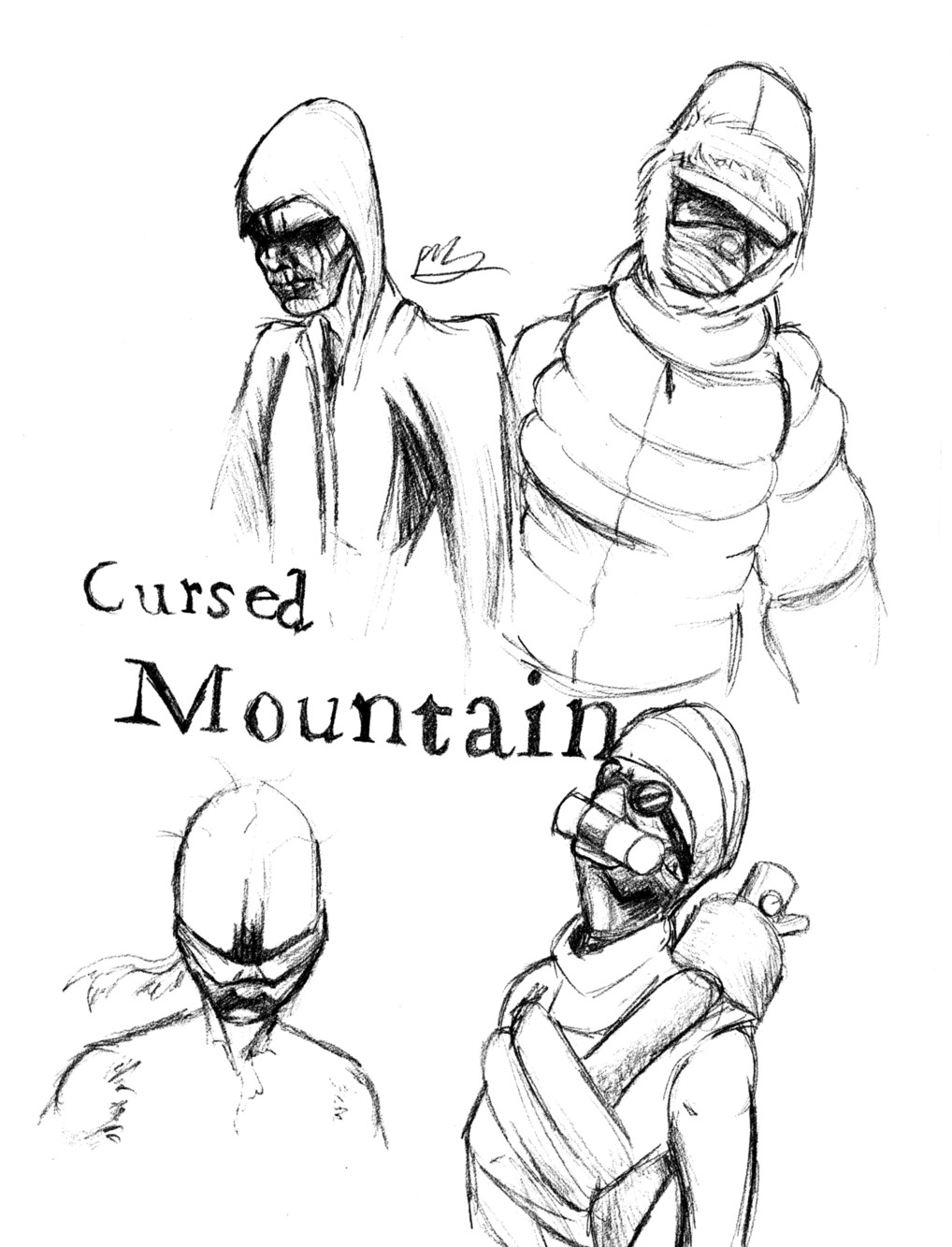 Cursed Mountain Ghosts by TheGameArtCritic
