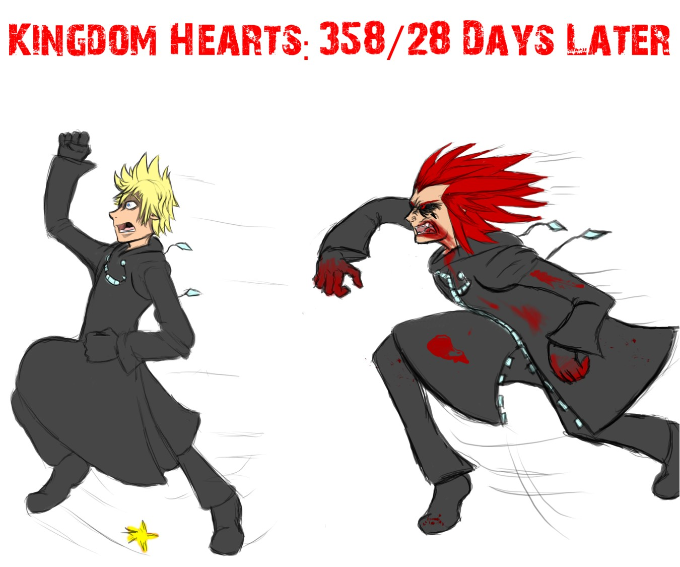 Kingdom Hearts: 358/28 Days Later by TheGameArtCritic