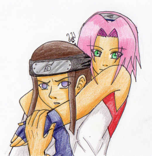 Request Neji x Sakura by TheWolfsgirl90