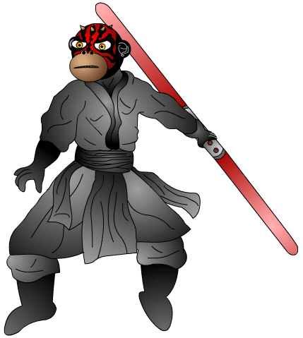 Darth Maul Monkey by The_Minx