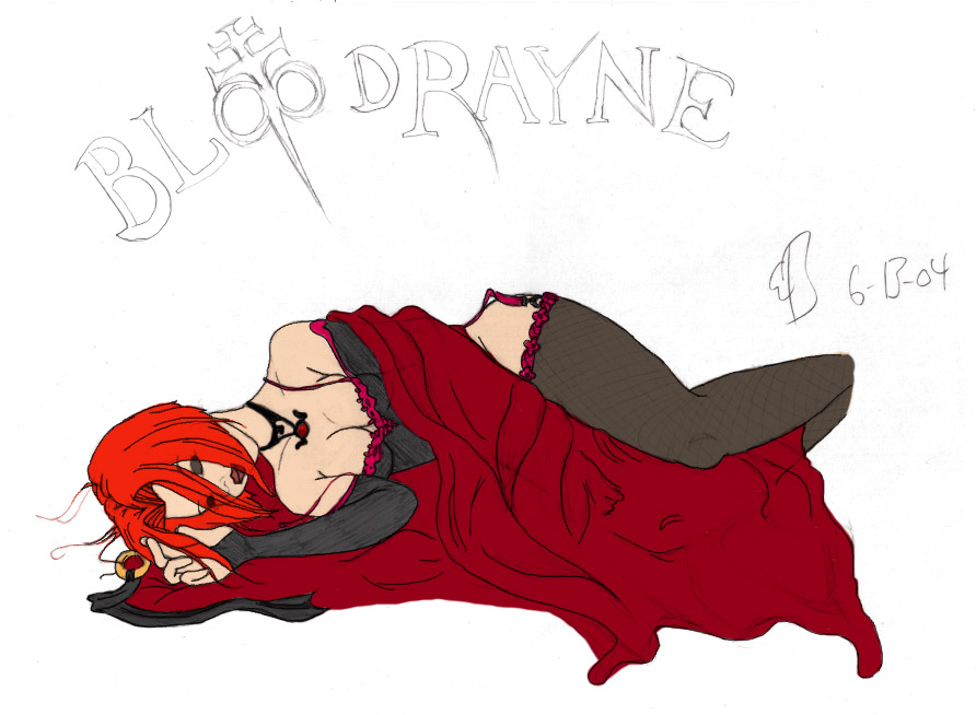 Blood Rayne Snoozing by The_Mushroom_King