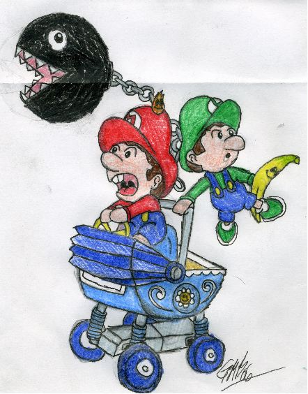 MKDD-Baby Mario and Luigi by The_Unsent_Laugh