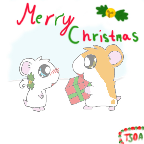Merry Christmas specials>> Hamtaro and Bijou by The_spirit_of_Amidamaru