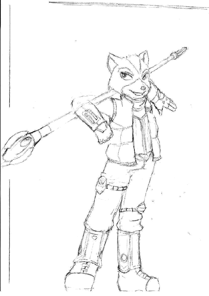 Fox McCloud (request for Shyu) by The_wonderfully_evil_Hubert