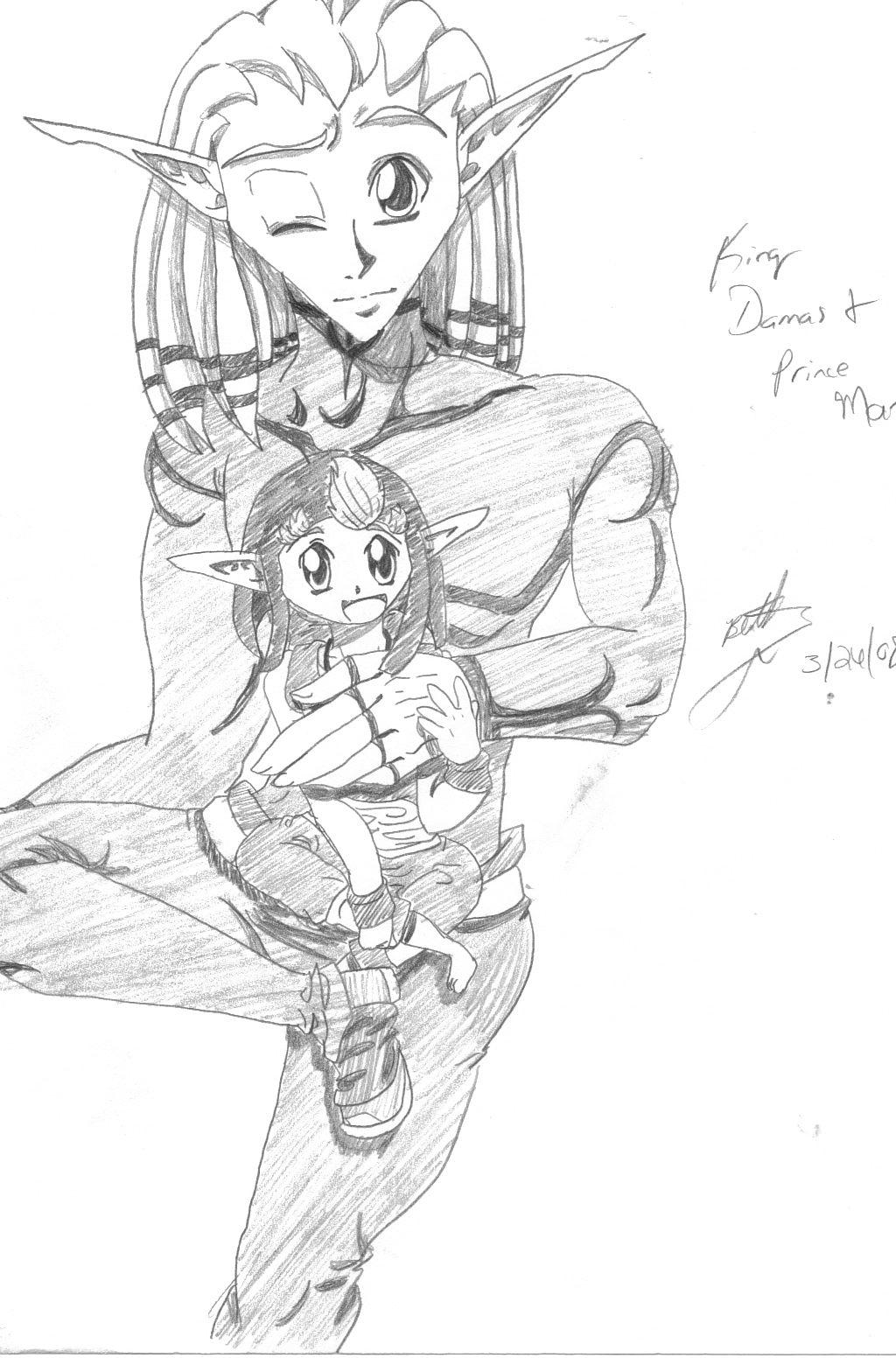 King Damas and Prince Mar by ThebSayraduka