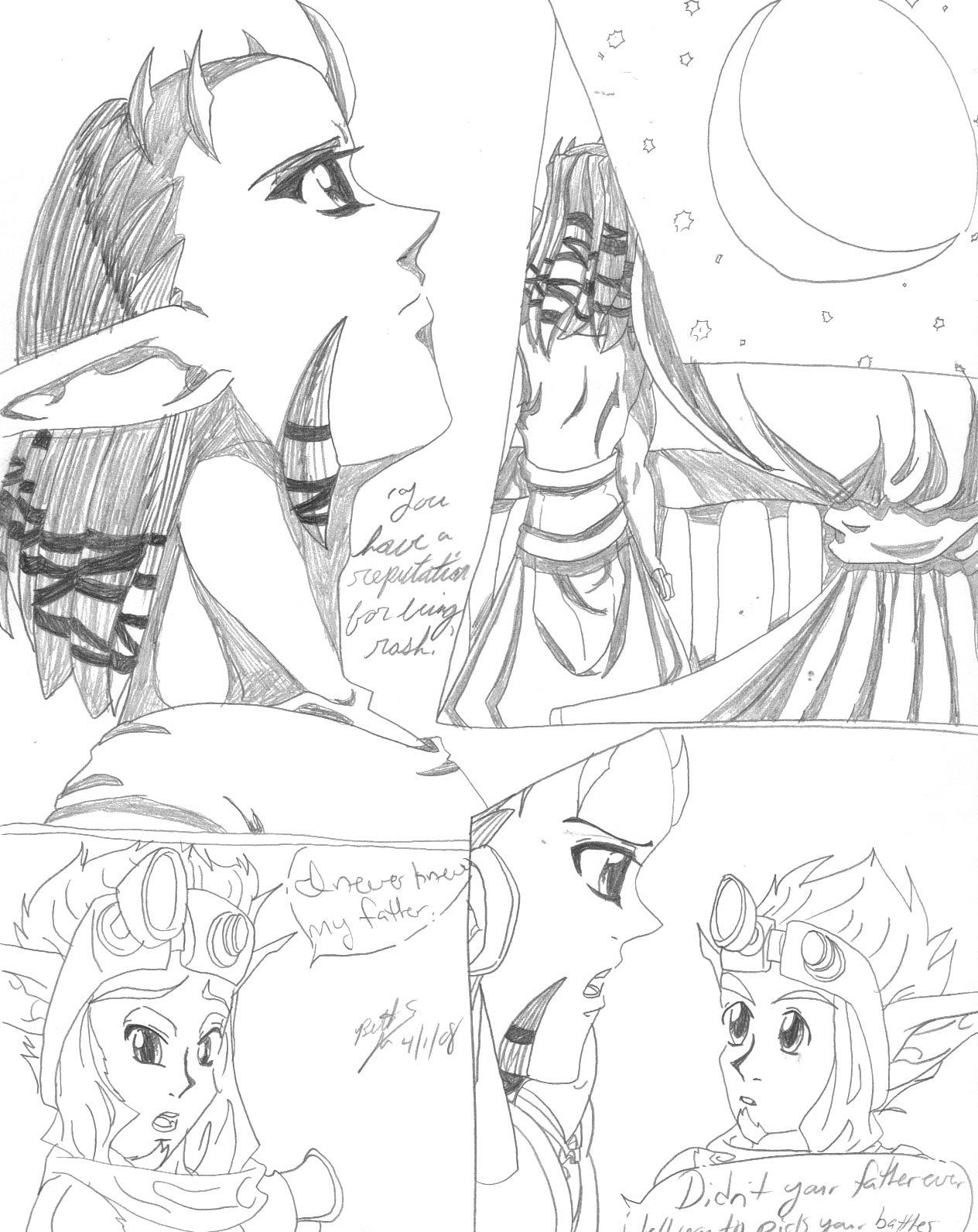 Manga sample page of Jak and Damas by ThebSayraduka