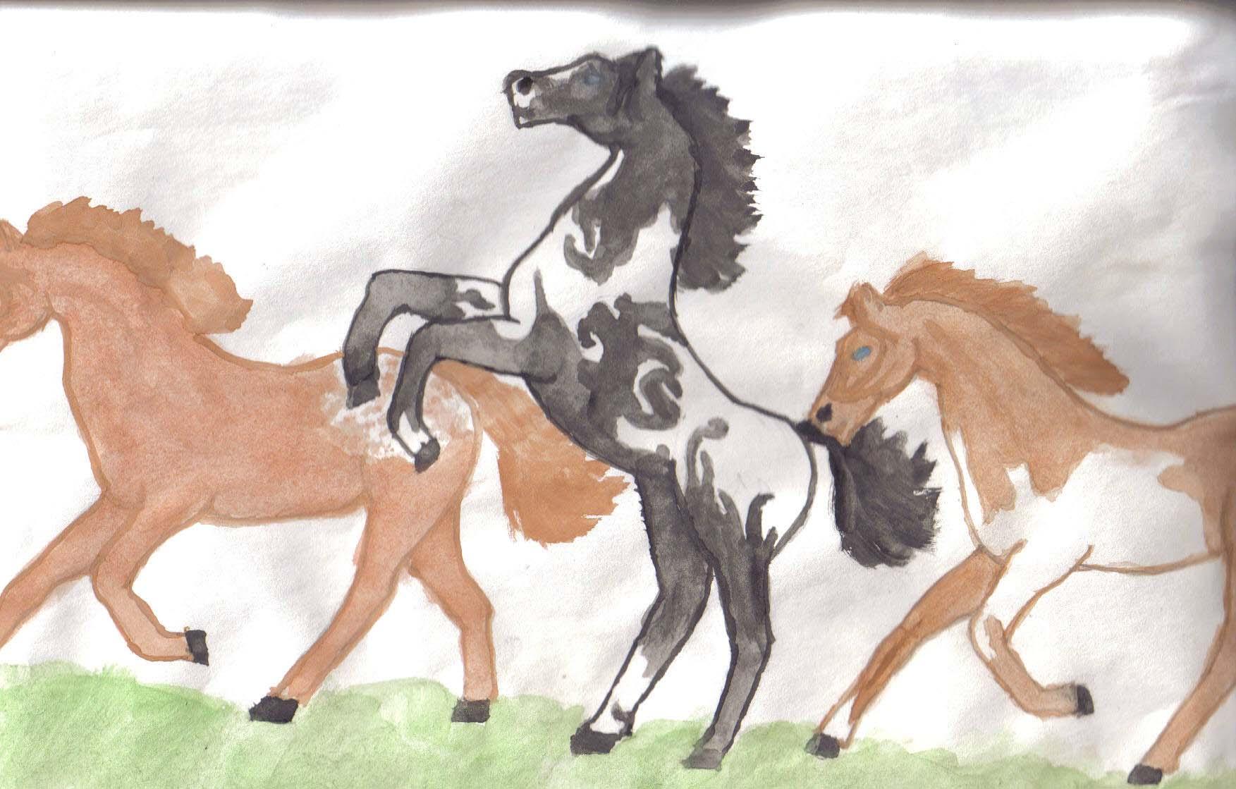 Three Horses Movement by Tigereno-loves-Wolf