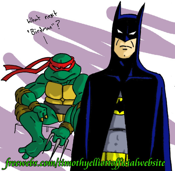 Raphe and Batman by TimE