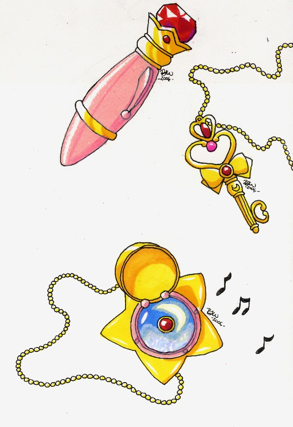 Time Key, Luna Pen, Star Locket by Tini