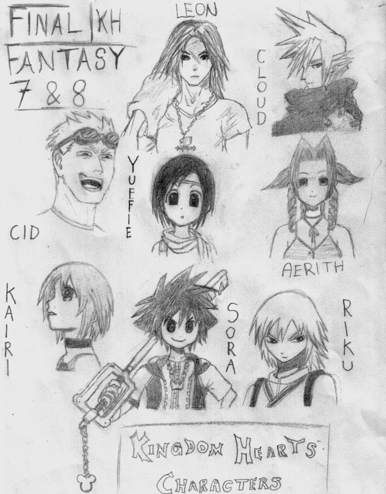 Kingdom hearts characters by Tinkster
