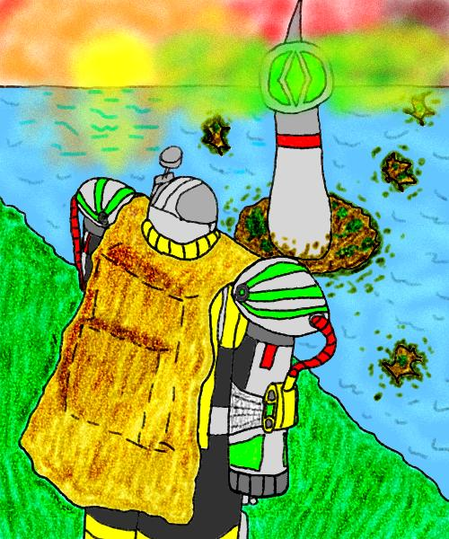 Zog soldier and a nice view by Tombot