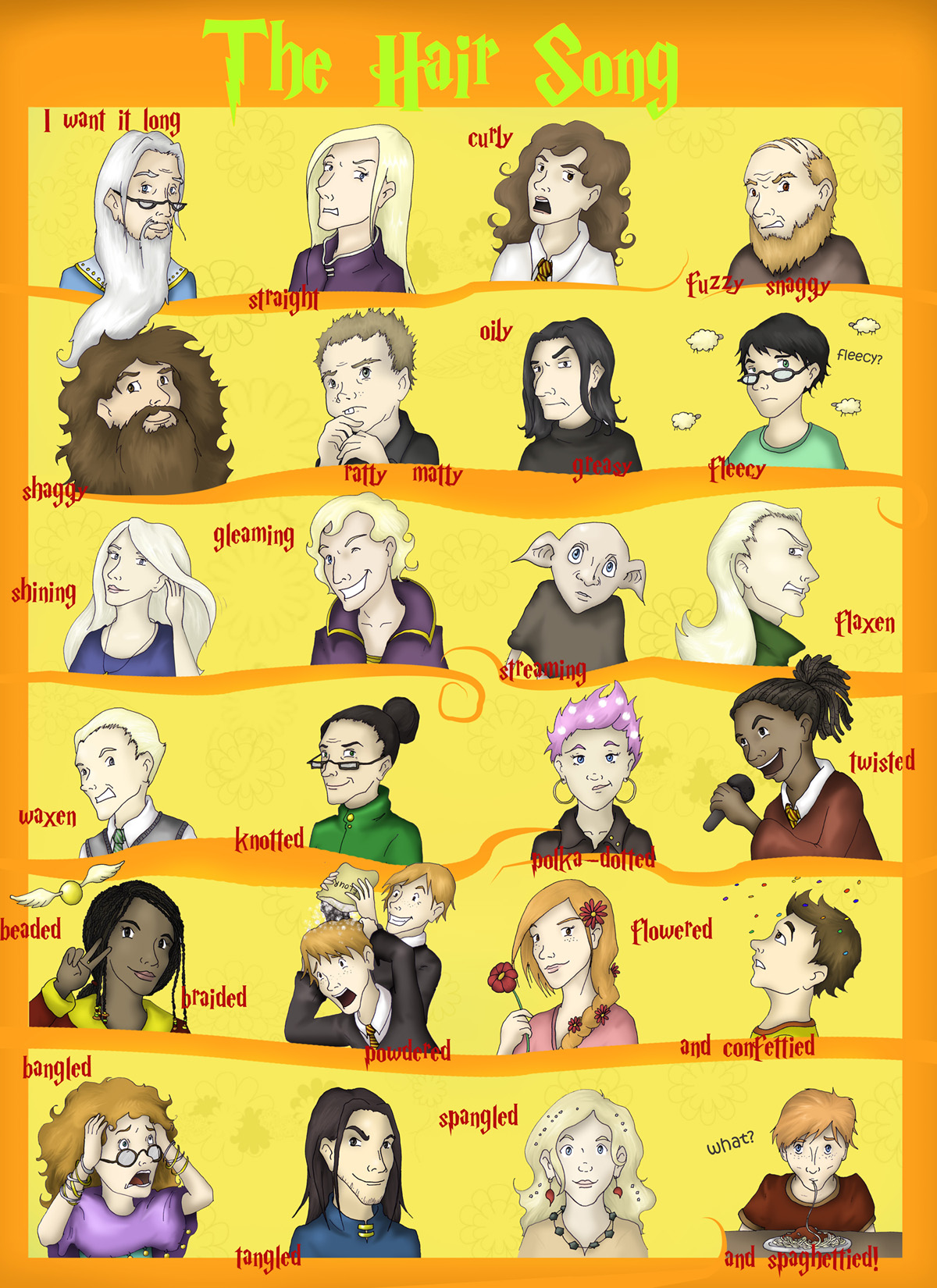 Hairy Potter characters by Tre