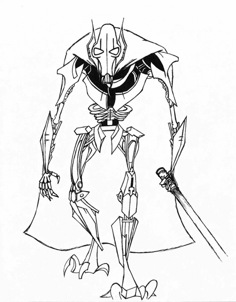 general grievous coloring sheet pages - photo#17