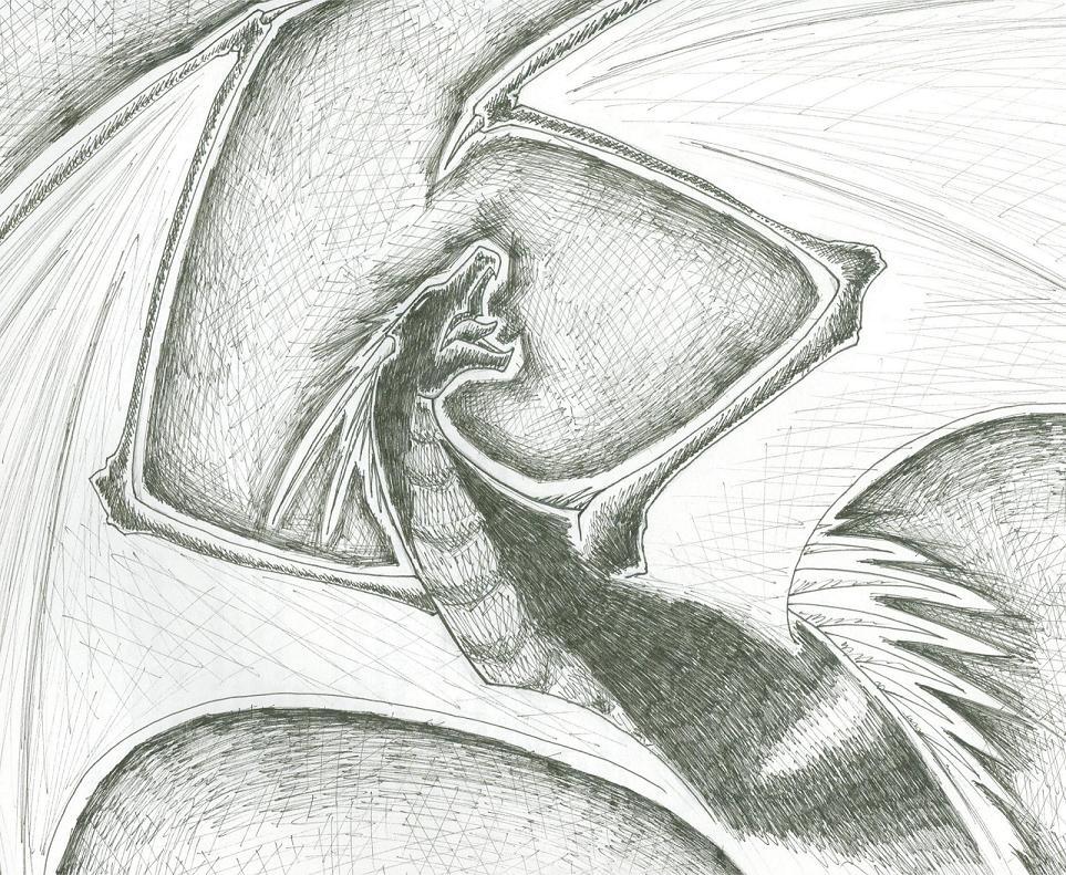 Black Dragon Sketch by Trinity_Fire