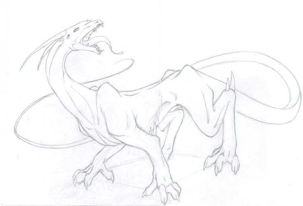 Dragon Rough Draft - WIP by Trinity_Fire