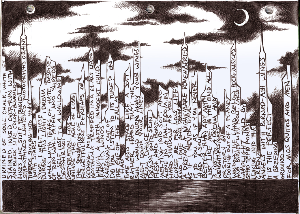 Doodlebot - City of Words by Trinity_Fire