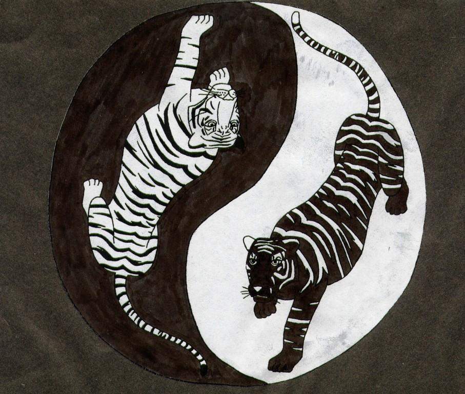 Yin Yang Tiger by Triss