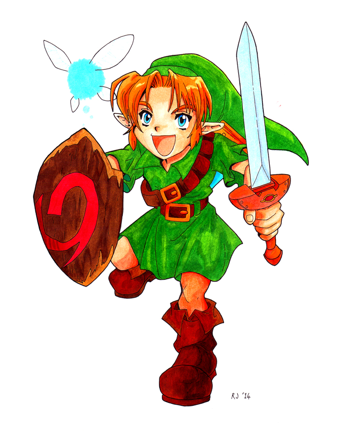 Young Link in Copics Edited by Triss