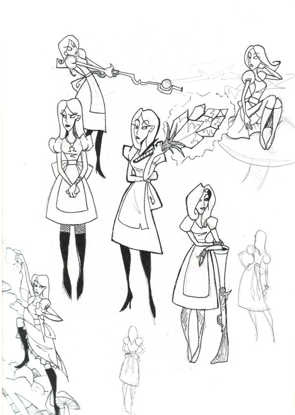 Alice doodles by Trustno1